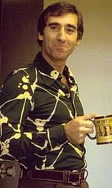 Andre with coffee cup