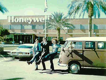 Multicians Novak, Riedesel, Myers, VW bus, Honeywell plant